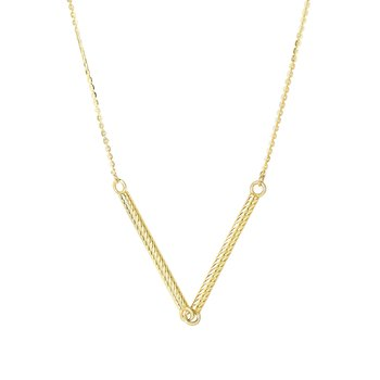 14K Gold  V Necklace
