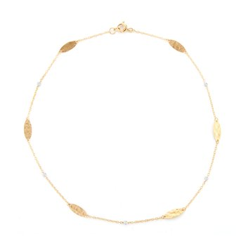 14K-Y MRQ. GOLD-BY-THE-YARD NECK., 0.08CT