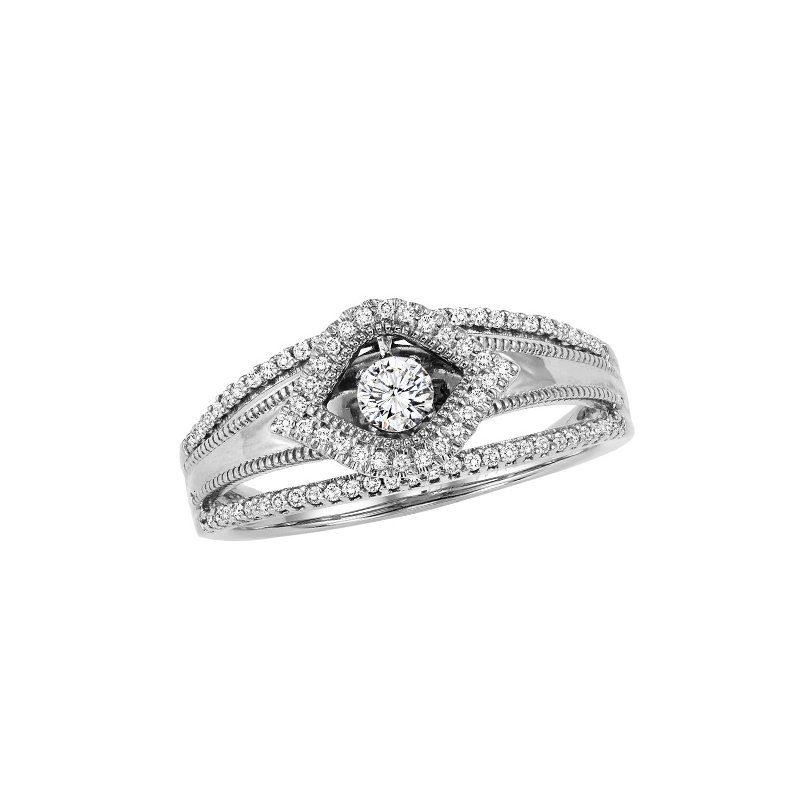 Rhythm of Love 14K Diamond Rhythm Of Love Ring 1/4 ctw
