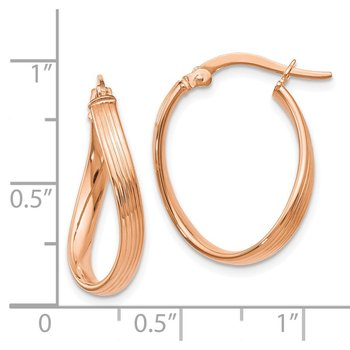 Leslie's 14K Rose Gold Polished Hoop Earrings