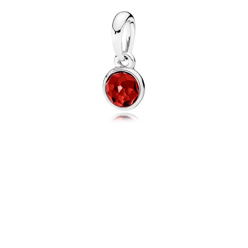 f4e772138 David Arlen Jewelers: PANDORA July Droplet Pendant, Synthetic Ruby