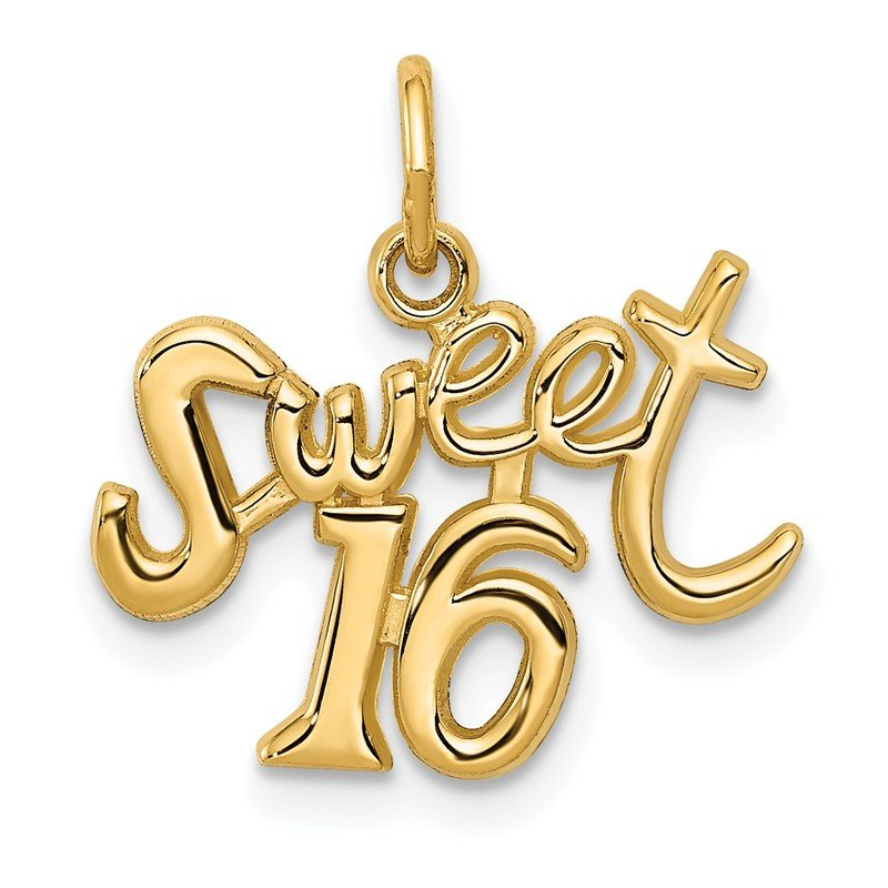 Quality Gold 14k SWEET 16 Charm