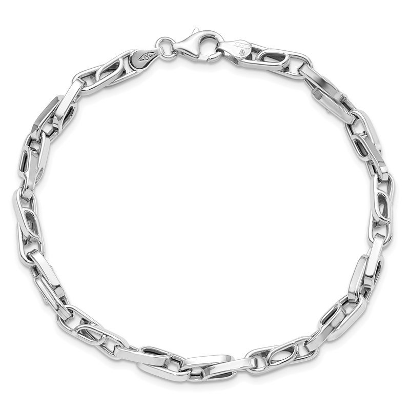 Leslie's Leslie's 14K White Gold Polished Fancy Link Bracelet