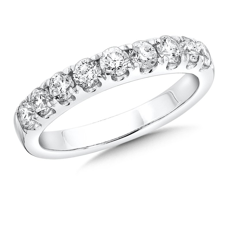SDC Creations Prong set Diamond Wedding Band 14k White Gold (1/4 ct. tw.) GH/SI1-SI2