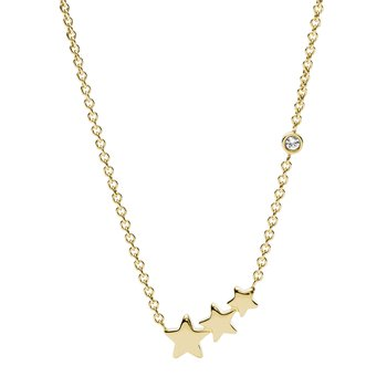 MULTI-STAR NECK GOLD TONE