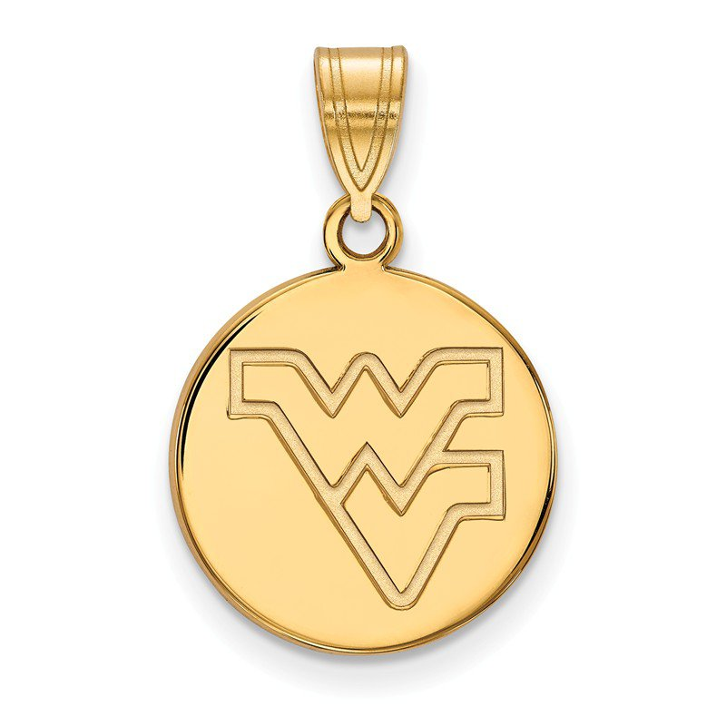 NCAA Gold-Plated Sterling Silver West Virginia University NCAA Pendant