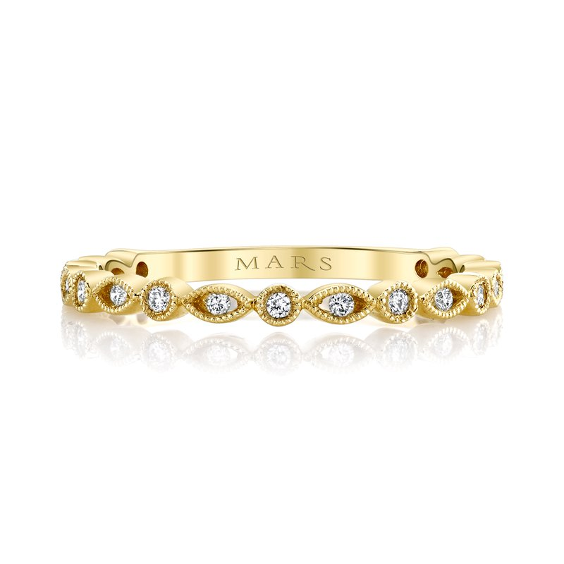 MARS Jewelry MARS 27271 Stackable Ring. 0.12 Ctw.
