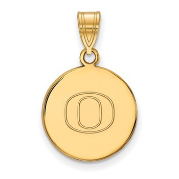 Gold-Plated Sterling Silver University of Oregon NCAA Pendant