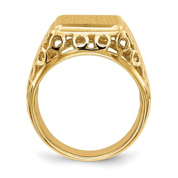 14k 14.5 x 12.5mm Open Back Men's Signet Ring