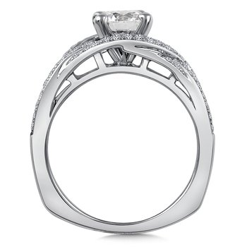 Diamond Engagement Ring Mounting in 14K White Gold (.39 ct. tw.)