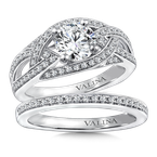 Valina Diamond Engagement Ring Mounting in 14K White Gold (.39 ct. tw.)
