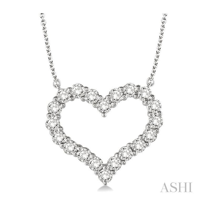 Gemstone Collection heart shape diamond necklace