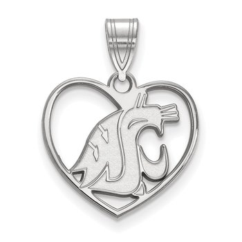 Sterling Silver Washington State University NCAA Pendant