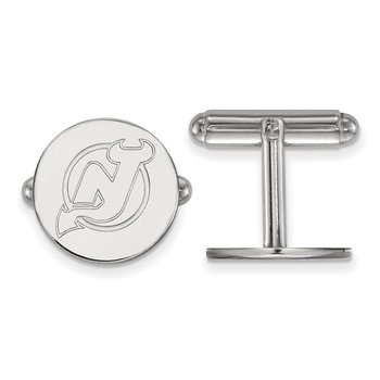 Sterling Silver New Jersey Devils NHL Cuff Links
