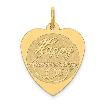 14K HAPPY ANNIVERSARY Heart Charm