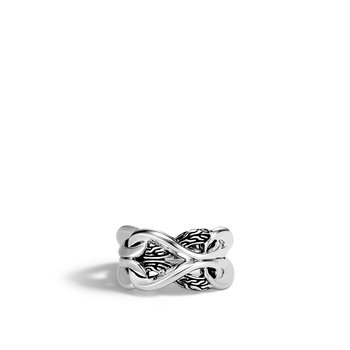 Asli Classic Chain Link 13.5MM Band Ring in Silver