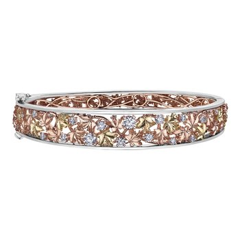 Maple Leaf Diamonds™ Autumn Falling Leaves Bangle
