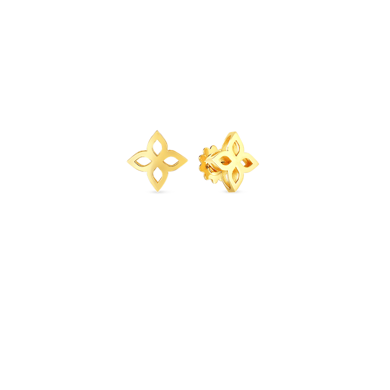 Roberto Coin 18K Medium Princess Flower Outline Stud Earring