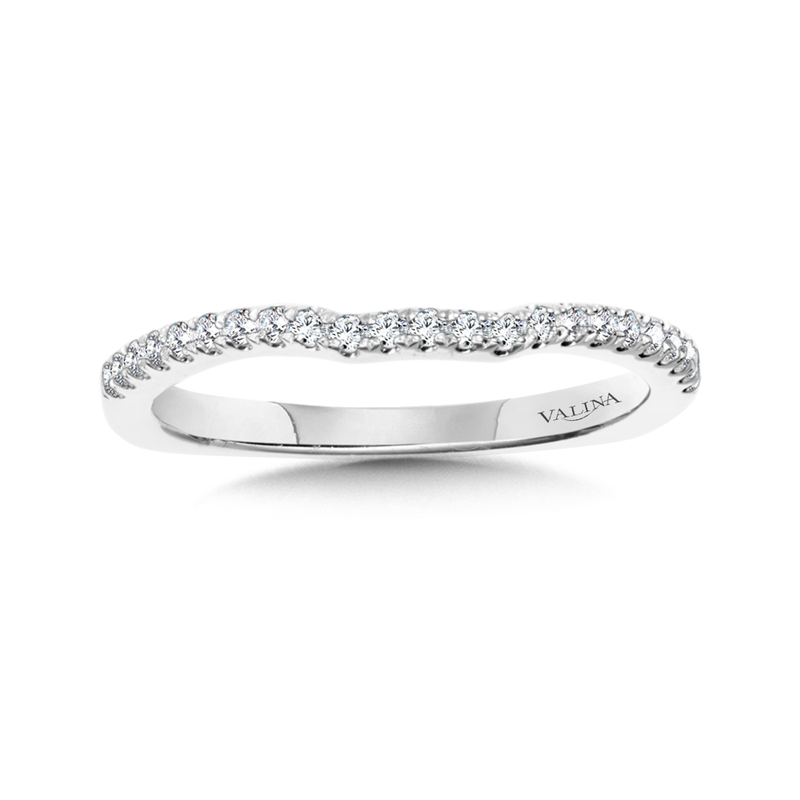Valina Diamond and 14K White Gold Wedding Ring(0.18 ct. tw.)