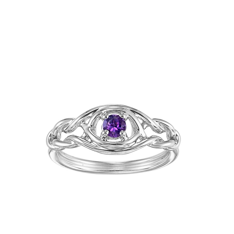 Mixables Silver Amethyst Ring (Available In all BirthStones)