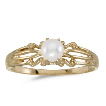 10k Yellow Gold Freshwater Cultured Pearl Ring
