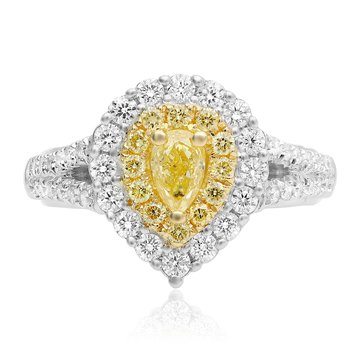 Split Shank Pear-shaped Diamond Ring