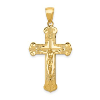 14K Polished Crucifix Pendant