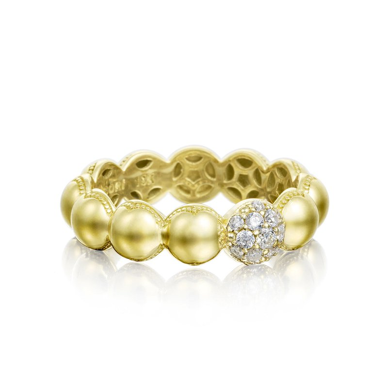 Tacori Fashion Pavé Dew Droplets Ring in Yellow Gold with Diamonds