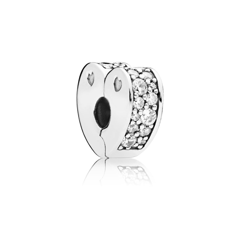 Pandora Sparkling Arcs Of Love Clip, Clear Cz