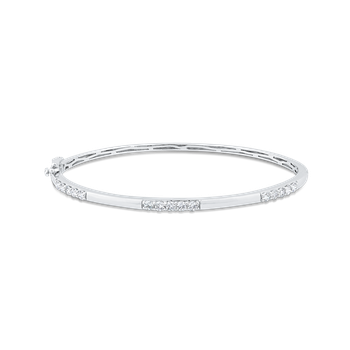Round Diamond Bangle Bracelet