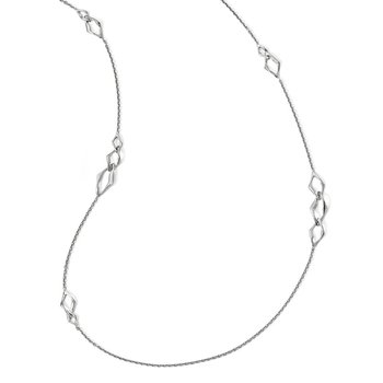 Leslie's Sterling Silver Rhodium-plated Necklace