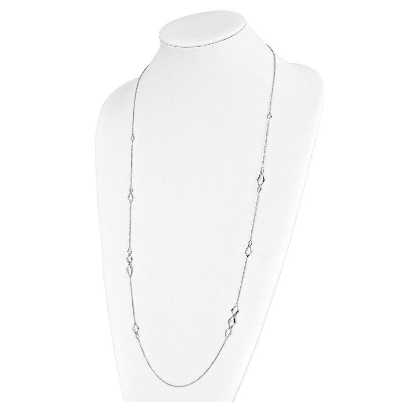 Leslie's Leslie's Sterling Silver Rhodium-plated Necklace
