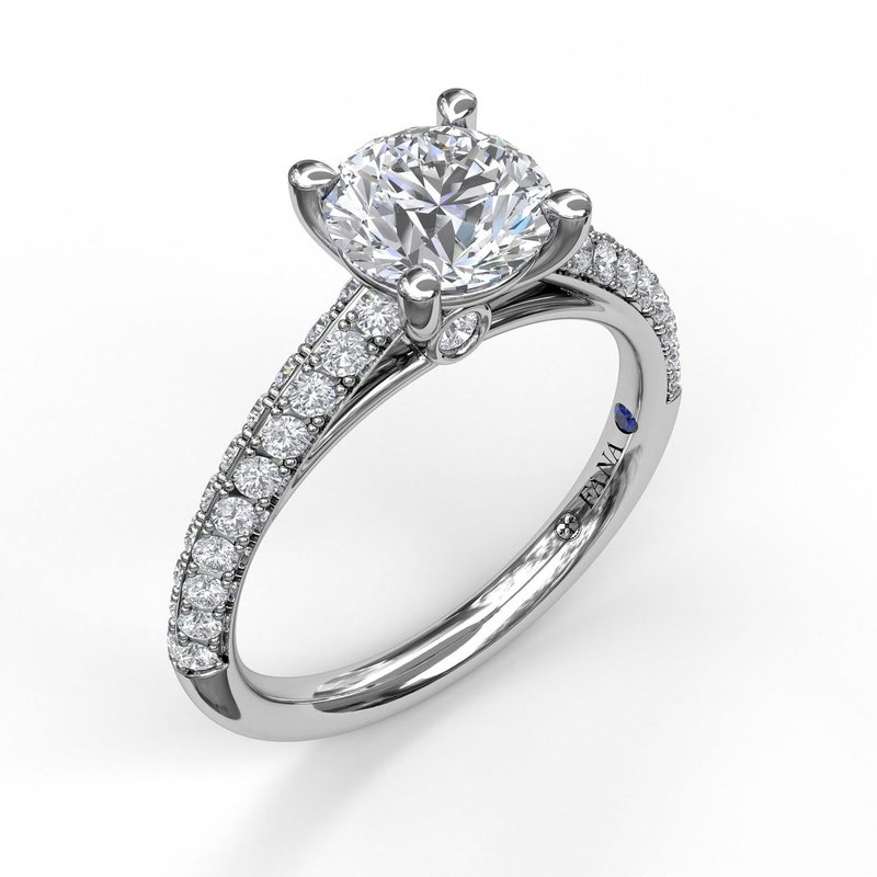 Fana Double Row Diamond Engagement Ring