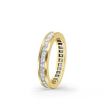 18K Yellow Gold Diamond Eternity Vintage Band