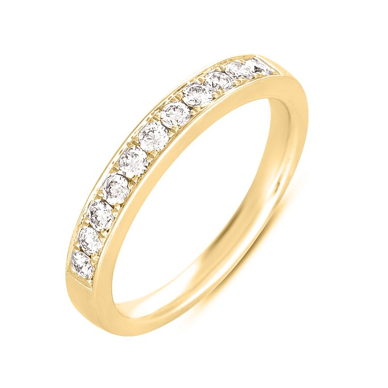 S. Kashi & Sons Bridal Yellow Gold Pave Band
