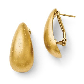 Leslie's Sterling Silver Radiant Essence Gold-plated Earrings
