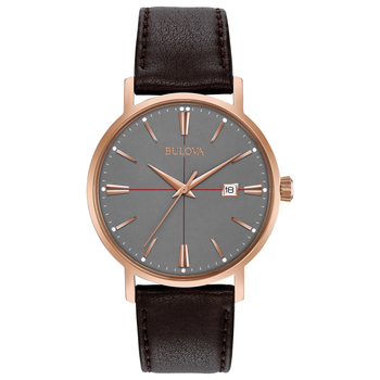 Aerojet Rose Grey Dial Leather Watch