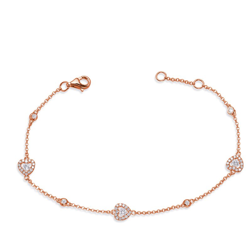 S. Kashi  & Sons Rose Gold Diamond By The Yard Bracelet