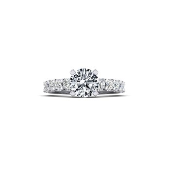 Straight Diamond Shank Engagement Ring