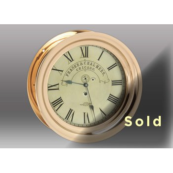 "10"" Red Brass Time Only Chelsea Clock, 1901"
