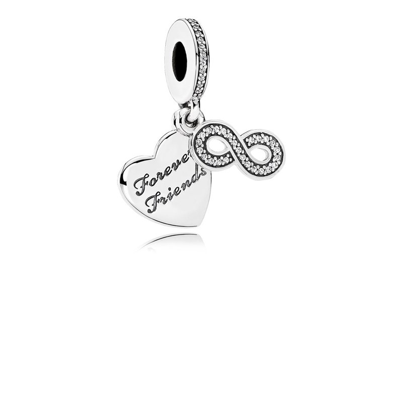 PANDORA Forever Friends Dangle Charm, Clear Cz