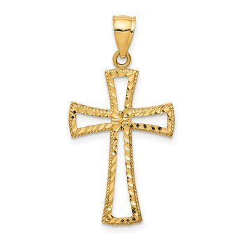 14K D/C Cross Pendant