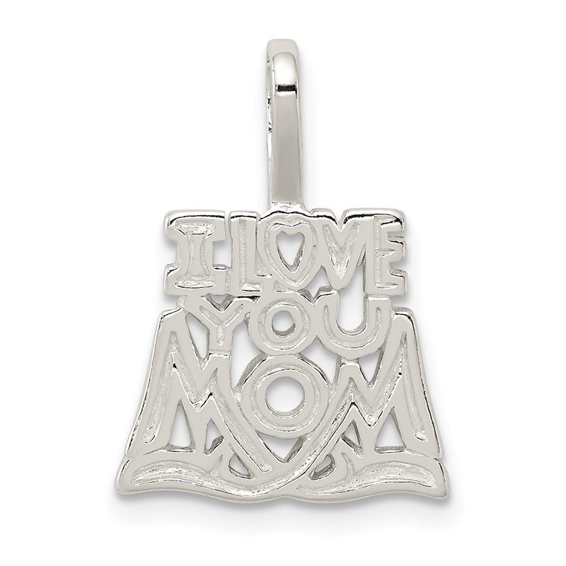 Quality Gold Sterling Silver I Love You Mom Pendant