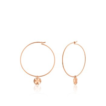 Ripple Hoop Earrings
