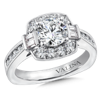 Valina Bridals Halo Engagement Ring Mounting in 14K White Gold (.69 ct. tw.)