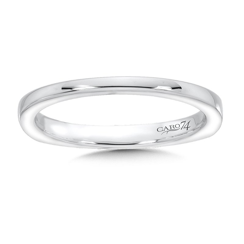 Caro74 14K White Gold Wedding Band
