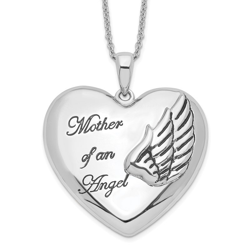 Quality Gold Sterling Silver Mother of an Angel 18in. Necklace