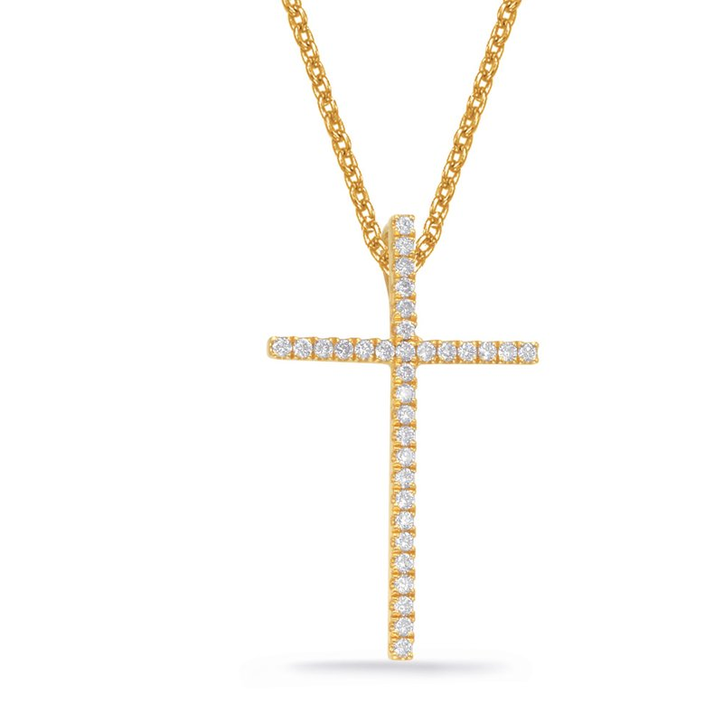 Briana Yellow Gold Diamond Pendant