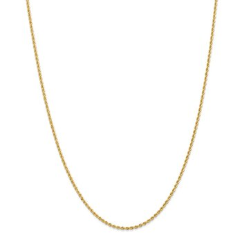 14k 2mm Regular Rope Chain Anklet