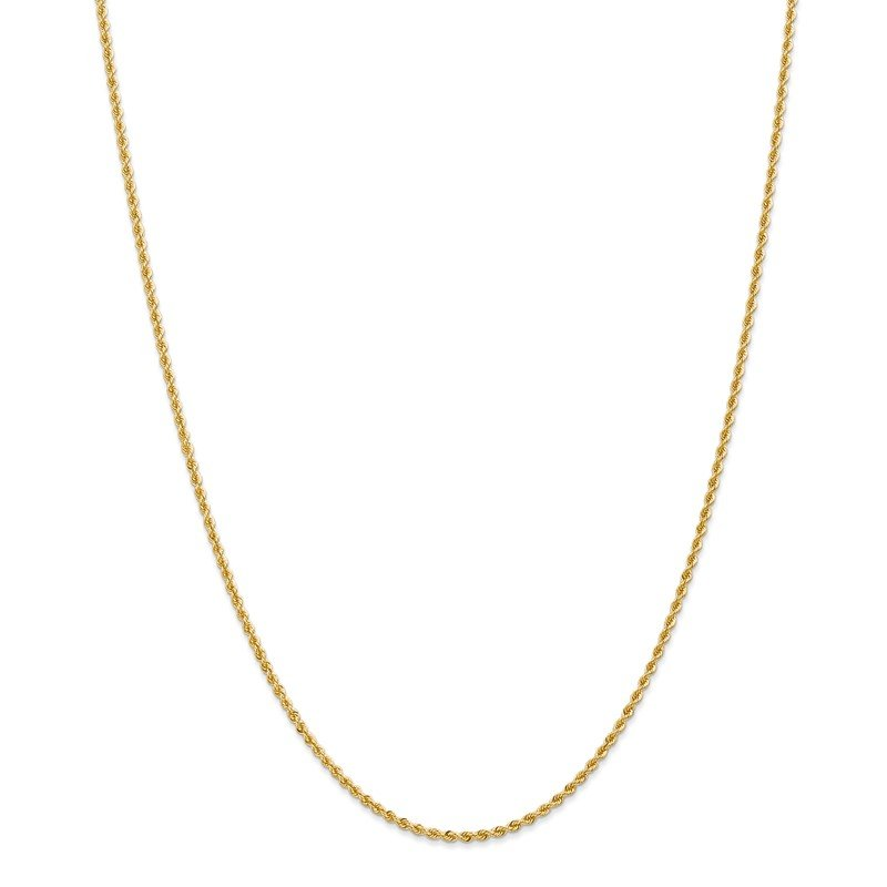 Quality Gold 14k 2mm Regular Rope Chain Anklet